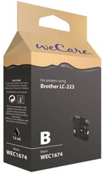 Inkcartridge Wecare Brother LC-223 zwart