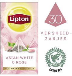 Thee Lipton Exclusive Aziatisch wit+rozen 30 piramidezakjes