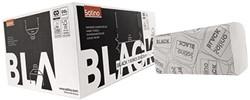 Handdoek Satino Black 25x23cm 1-laags zigzag 4600st.