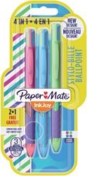 Balpen Paper Mate inkjoy quatro joie de vivre assorti