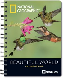 Agenda 2019 teNeues National Geographic Beautiful World 16.5x21.6cm