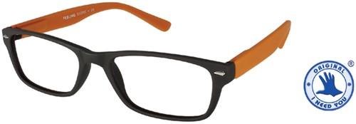Leesbril +3.00 Feeling bruin-oranje