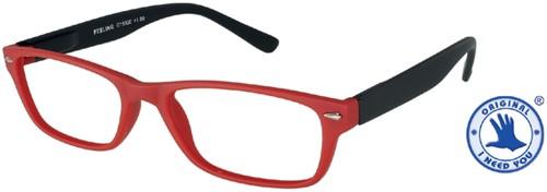 Leesbril +2.00 Feeling rood-zwart