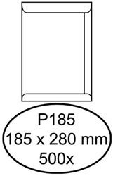 Envelop Hermes akte P185 185x280mm zelfklevend wit 500stuks