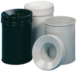 Papier- en afvalbakken
