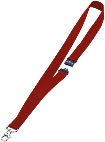 Textielkoord Durable 8137 met karabijnhaak rood