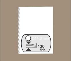 DRAADRUG GBC 14.3MM 34RINGS A4 WIT
