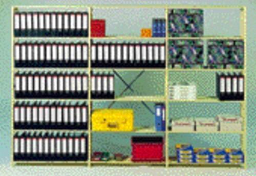 Aanbouwrek A131 met 6 legborden 100x28.0x208cm