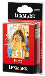 INKCARTRIDGE LEXMARK 31 18C0031E FOTO KLEUR
