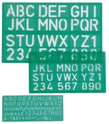 Letter- en cijfersjablonen