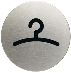 INFOBORD PICTOGRAM DURABLE GARDEROBE ROND 83MM